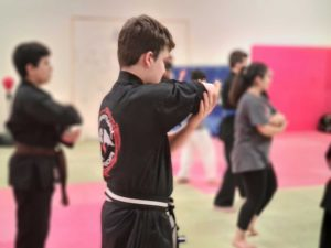 Junior Students doing MARTIAL ARTS in Coventry at The Way of the Spiritual Warrior Dojo